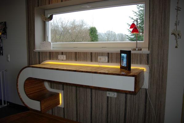 HoWeCa - Highboard mit grifflosen Schubladen Push2open