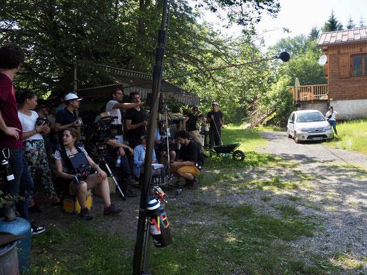 Le réalisateur Rachid Bentoumi à Freydières.