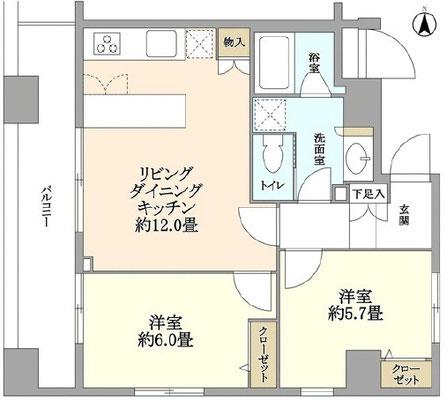 【間取り図】メインステージ蔵前Ⅱ