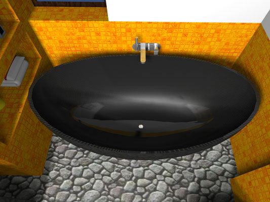 Carbon Fiber NR Design Bathtub