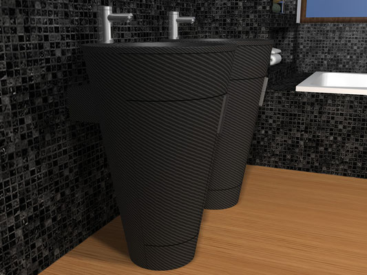Carbon Fiber NR Design Self-Supported Vanity Rome