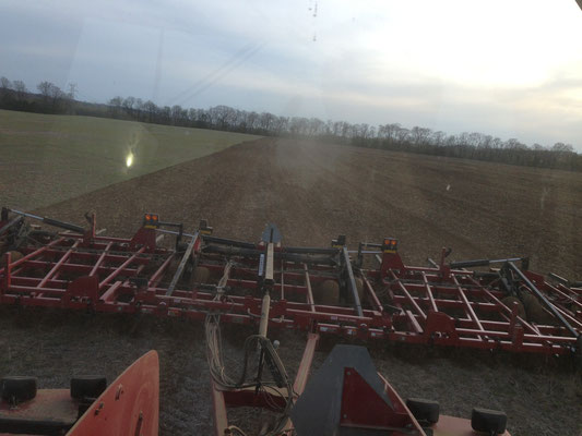 Steiger STX CASE pulling 60 foot implement with NR Sweeps