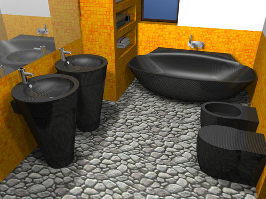 Carbon Fiber NR Design Vanity Bathroom