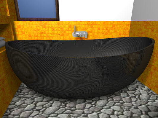 Carbon Fiber NR Design Bathtub Side View
