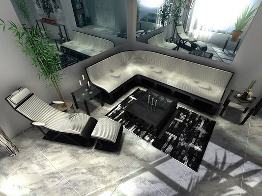 Carbon Fiber Living Room Set