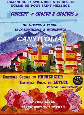 programme du concert de Pont saint Maxence