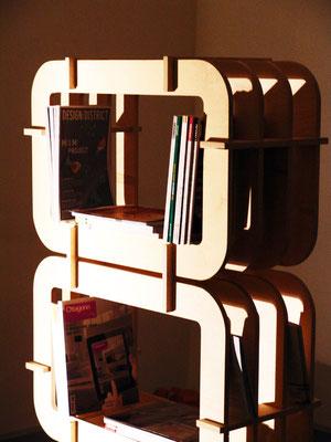Multi.Strato, la libreria di SCHIUMA DESIGN POST DESIGN