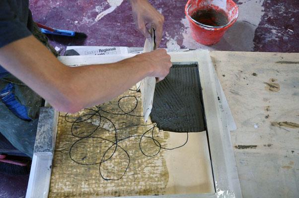 Applicazione del pezzo. Come si monta un Mosaico? di Giorgia Palombi