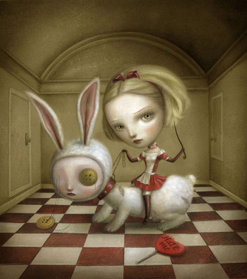 LOWBROW ART o SURREALISMO POP. Opera di Nicoletta Ceccoli: she's so lovely