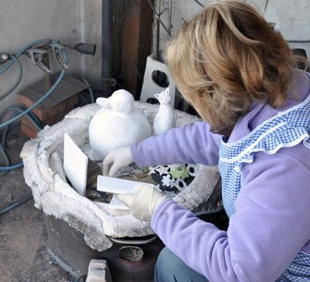PREPARAZIONE FORNO per ceramica raku. Zlata Maksan
