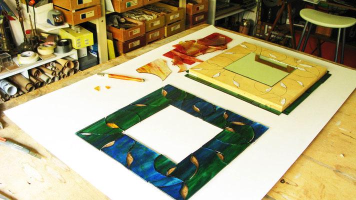 Il vetro diventa Mosaico. Lavoro di Beatrice Morello.
