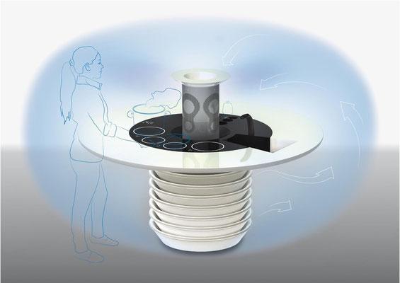 CLIMAPLANE 21: risparmio energetico. Daniele Faro. Poliarte.  Salone del Mobile 2011, Satellite