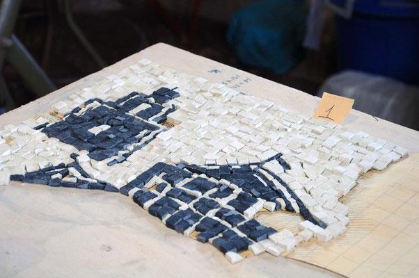 Lavorazione in diretta! Come si monta un Mosaico? di Giorgia Palombi
