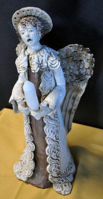 ANGELO- SCULTURA IN CERAMICA RAKU. Zlata Maksan