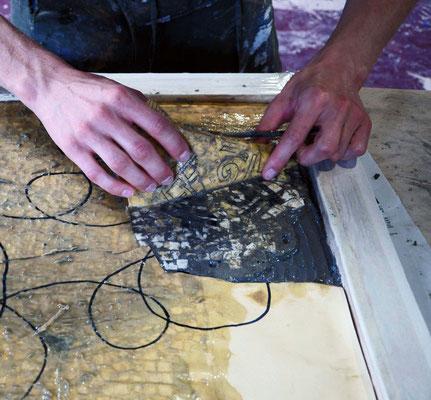 Pulitura del mosaico. Come si monta un Mosaico? di Giorgia Palombi