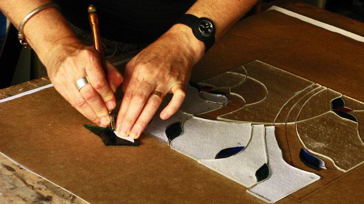 5. Taglio e sovrapposizione del vetro. Beatrice Morello