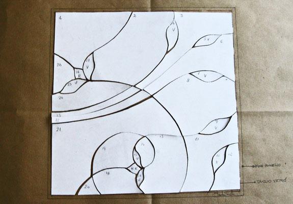 3. Copiatura e taglio del foglio VETRO. Beatrice Morello