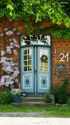 Gemeinde Brodersby - Goltoft / historische Eingangstür im Ortsteil Goltoft