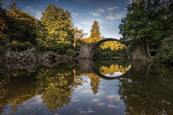 Rakotzbrücke in Gablenz, Sachsen