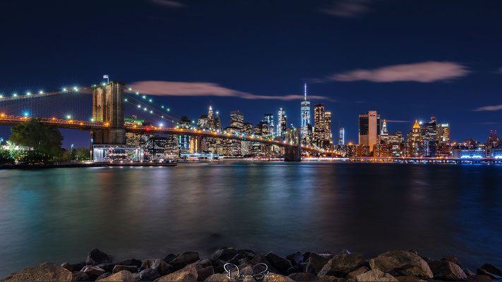 Skyline & Brooklyn Bridge, New York