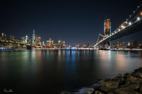 Brooklyn Bridge & Manhattan Bridge New York