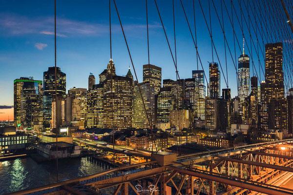 NYC - kurz nach Sonnenuntergang