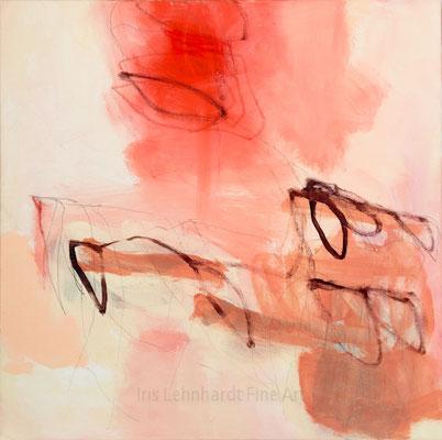 untitled 31072019-1 | Iris Lehnhardt. 60x60 cm Mischtechnik auf Leinwand