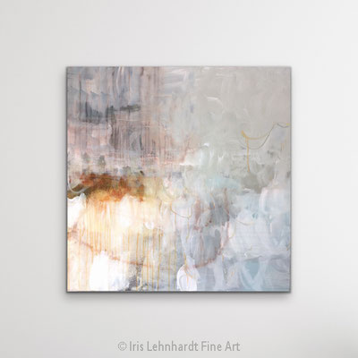 La Vie en Rose, 100x100 cm, Mischtechnik auf Leinwand, Iris Lehnhardt 2021