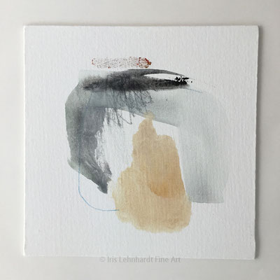 Serie Abstract Study, Mischtechnik auf Canvas Panel, Iris Lehnhardt 2020