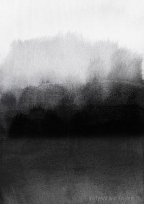 greyscale landscape.