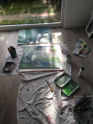 im Atelier, August 2021