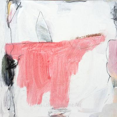 untitled 13082019 | Iris Lehnhardt. 40x40 cm Mischtechnik auf Canvas Panel.