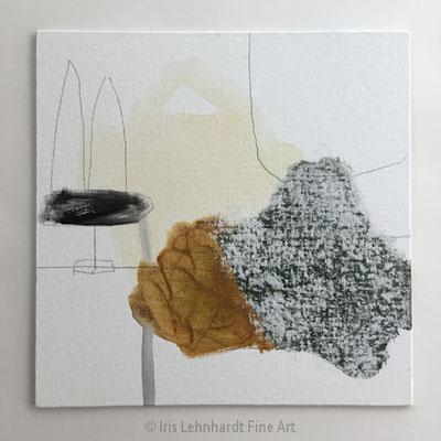 Abstract Study 100920-2 Mischtechnikauf Canvas Panel 30x30 cm Iris Lehnhardt 2020