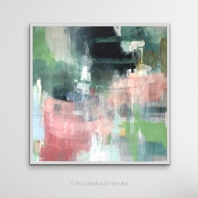 untitled, 100x100 cm, Mischtechnik auf Leinwand, Iris Lehnhardt 2021