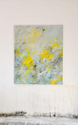 Sommerwind, Mischtechnik auf Leinwand, 100x120 cm, Iris Lehnhardt 2015