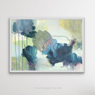 abstrakte Landschaft, 70x50 cm, Mischtechnik auf Leinwand 2021