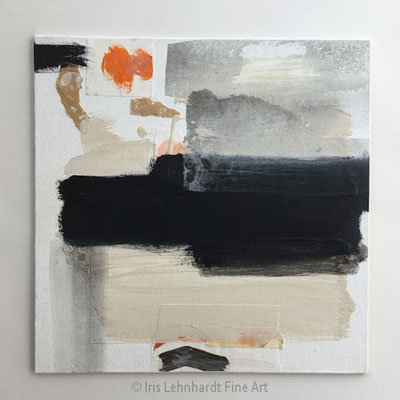 Abstract Study 100920-1 Mischtechnikauf Canvas Panel 30x30 cm Iris Lehnhardt 2020