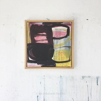 untitled, 40x40 cm, Mischtechnik auf Leinwand, Iris Lehnhardt 2021
