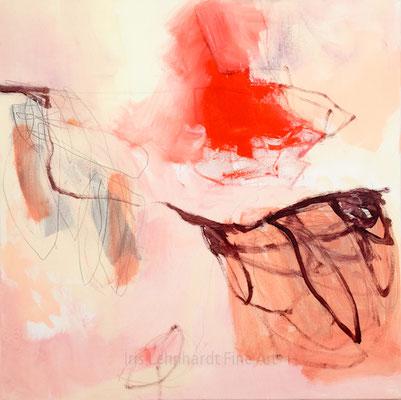 untitled 31072019-2 | Iris Lehnhardt. 60x60 cm Mischtechnik auf Leinwand