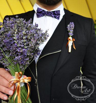 Немає нічого ніжнішого, витонченішого і найзворушливішого, ніж лавандовий букет нареченої.