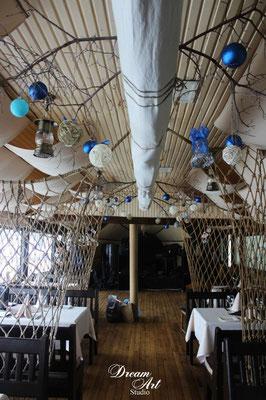 """Оформлення та декор ресторану """"Шкіпер"""" до новорічних свят"""