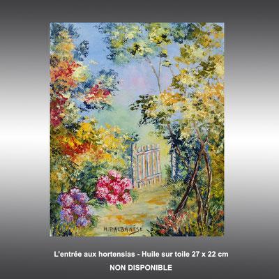 Tableau de provence - L'entrée aux hortencias