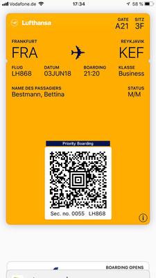 Der ICE hält zum Glück Frankfurt-Flughafen und so werden wir einigermaßen schnell ENDLICH unsere Koffer los und entern die Business Lounge.