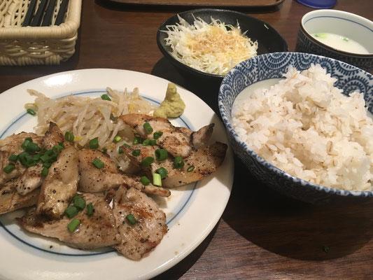 「しずる」豚トロ焼き定食