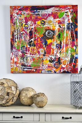 Bright Storm, 80 x 80 cm.  Painting by Dieter Verspeelt