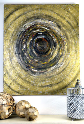 Around The Globe, 100 x 120 cm.  Painting by Dieter Verspeelt