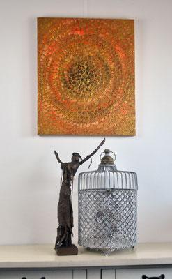 Goldrange, 50 x 60 cm, painting by Dieter Verspeelt