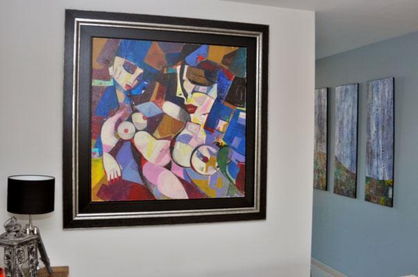 The Happy Day by Igor Tcholaria, 100 x 100 cm