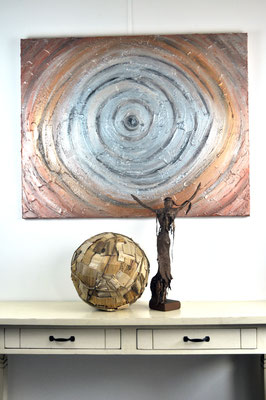 Eye On The Univers, 80 x 100 cm, painting by Dieter Verspeelt