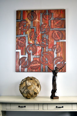 Sculptor's Friend, 80 x 100 cm, painting by Dieter Verspeelt